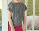 KNITTING PATTERN PDF file-Summer Pullover for girls