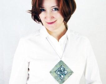 CHRISTMAS SALE (Regular 65USD) - Geometric Jewelry Beaded Necklace Peyote Stitch Beaded Jewelry