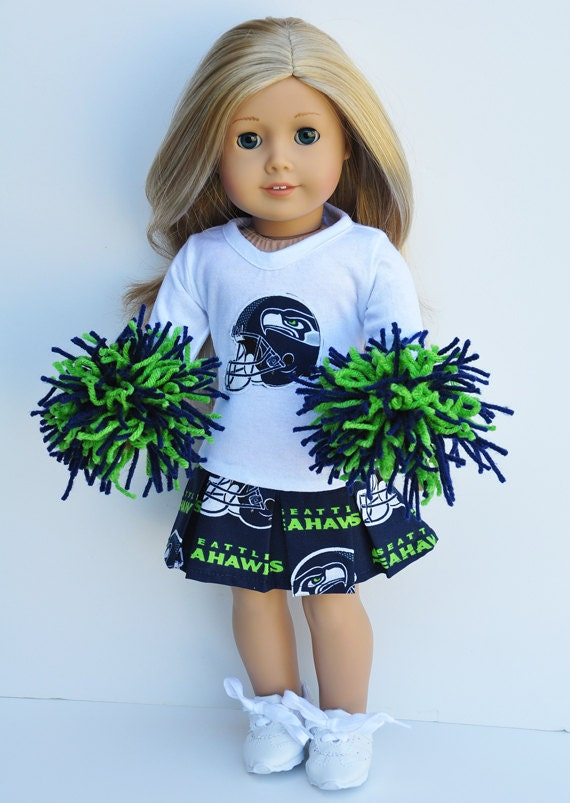 American Girl Clothes Seattle Seahawks by LoriLizGirlsandDolls