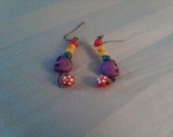 Rainbow Skulls Earrings
