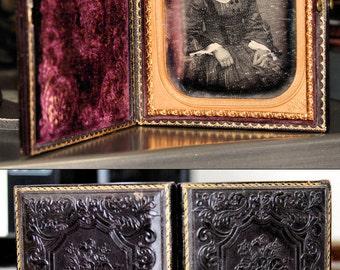 1/4 Daguerreotype of Poet and Author Elizabeth Oakes Smith / Portland Maine