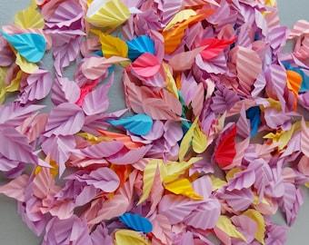 Multicolor Paper Leaves