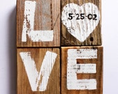 Personalized Wedding Date Love Sign Shabby Wedding Beach Outdoor Country White Wedding Reception Vintage Wedding Photo Prop Bridal Shower