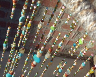 Glass Beaded Mobile/suncatcher/glass beaded art/glass beads