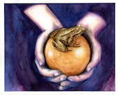 The Frog Prince- Print Watercolor Fairytale Painting
