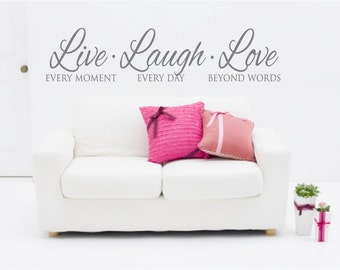 Live Laugh Love Etsy - Wall decals live laugh love