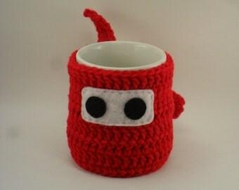 Ninja Mug Cozy & Coaster RED