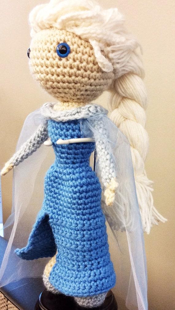 Crochet Frozen Doll Pattern : Frozen Elsa Inspired Handmade Crochet Doll by ladyjunebug ...