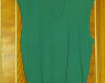 1970s Green McGregor Sweater Vest