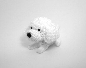 Poodle Crochet Dog Amigurumi Puppy Stuffed Animal Plush Doggie Doll / Made to Order