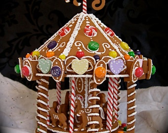 Faux Gingerbread Carousel, a Merry-Christmas-Go-Round!