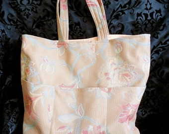 Large Carry-All Tote in Jacobean Tapestry