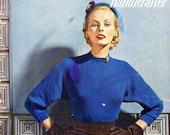 DRESSES AND SUITS - 1952 Bernat Handicrafter Book No. 33 Knitting Patterns Fashion Garments