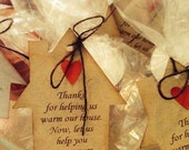 Housewarming gift tags - Favor tags, set of 40