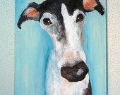 Custom Dog Painting 24x36 Pet Portrait Acrylic on Canvas