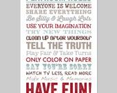 Playroom Rules, Playroom Decor, Playroom Art, Playroom Sign, Playroom Wall Art, Art for Playroom, Play Room Sign, Playroom Printable