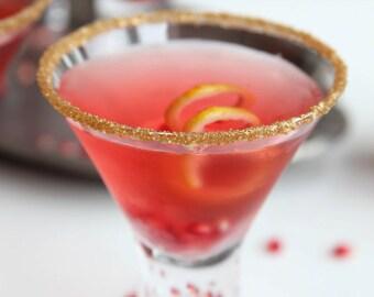 Metallic gold cocktail rimming sugar - colored rim sugar for martinis, champagne