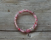 Crystal Bubble Gum Double Loop Bracelet - Proceeds Benefit Cancer Research