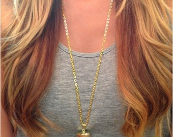 XL Gold Dipped Crystal Quartz Necklace