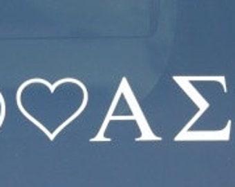 Peace Love Alpha Sigma Alpha Decal
