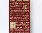 Nana and Papa House Rules, Wood Sign, Gifts for Grandparents, Nana and Papa Sign, Nana and Papa Gift, Sustainable Home Decor,Your Colors