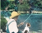 Gone Fishing Hand Tinted Photo Print