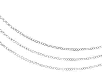 Chains, Cable Chain, Sterling Silver, 1.3x1mm - 20ft (3305-20)/1