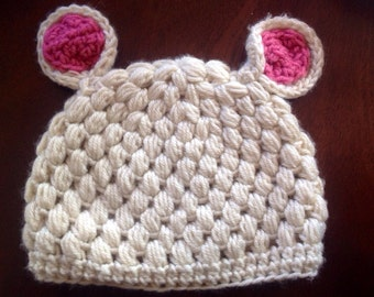 Little Lamb Beanie - Sheep, Baby Hat