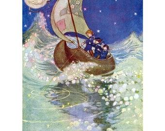 Winken, Blinken, and Nod Print - Willy Pogany Illustration