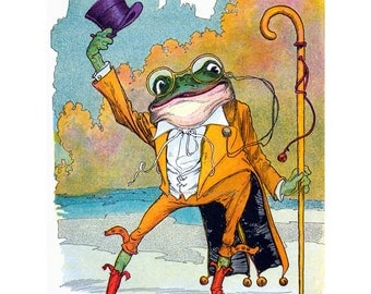 Frog Greeting Card - Tophat Frog from Oz Books - Repro John R Neill