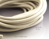 1 ft 4 mm white Nappa leather cord Lizard print leather Ivory cord 4mm round leather 4mm cord white leather ivory cord  stringing supplies