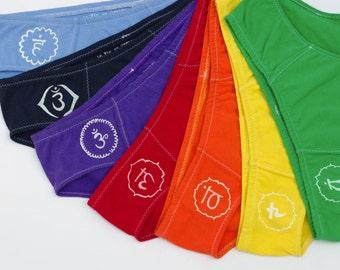 7 Chakras Women's Cotton Underwear Multi-Pack - Made to Order