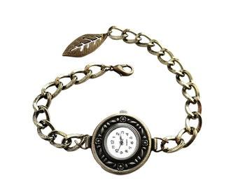 Get 15% OFF - Handmade Women Fashion Vintage-style Antique Bronze Round Quartz Watch Bracelet - Labor Day SALE 2016