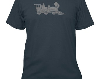 Train Shirt - Train Engine Shirt Mens Shirt - Farm Shirt - 5 Colors Available - Mens Cotton TShirt - Gift Friendly