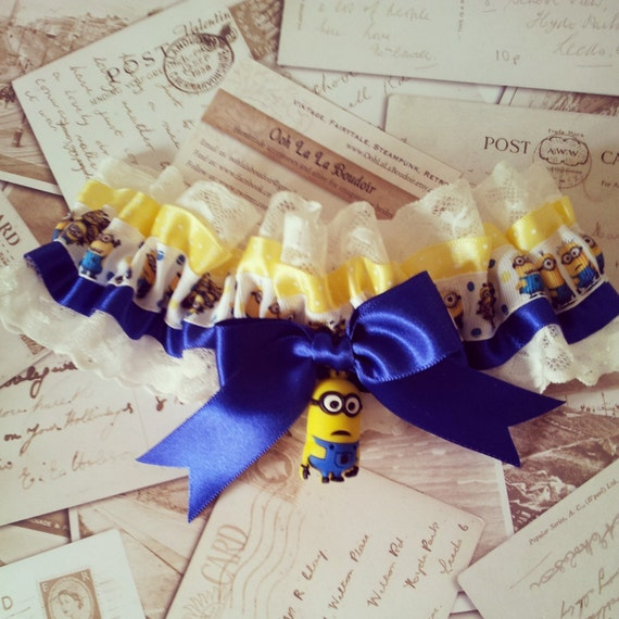 Funny Wedding Garters: Minion Garter Despicable Me Wedding Garter Geek By