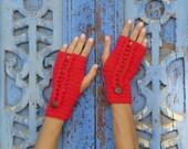 Crochet Pattern Fingerless PDF Ello mittens - braids cable crochet  - woman warm accessory gloves - Instant DOWNLOAD