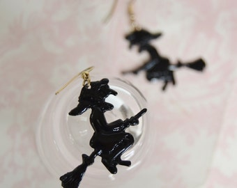 Vintage Witch Silhouette Earrings