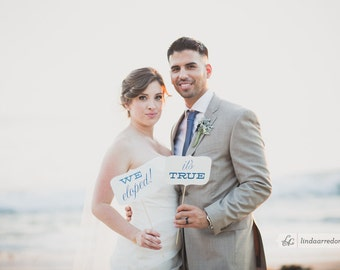 We Eloped! It's True! - Customizable Colors / Messages
