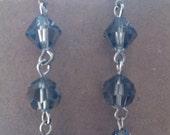 SALE**  Gray swarovski drop earrings