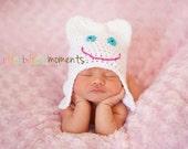 Sweet Tooth Hat - Dentist Newborn Photo Prop - Crochet