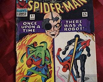 The Amazing Spider Man No 37 issued 1966 Marvel Comics Steve Ditko Robot Normon Osborn
