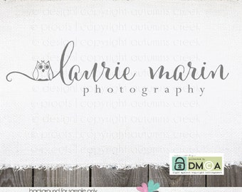Premade Logo Photography Logo Hand Drawn Owl Logo Photography Watermark Logo for Photographer Premade Logo Design Logo Design premade logos