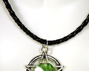 Witch Jewelry, Druid Necklace, Pagan Jewelry, Hedge Witch, Earth Witch, Druid Pendant, Green Witch, Wiccan Pentacle, Earth Goddess