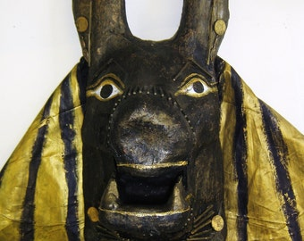The Mask of the Egyptian God Anubis