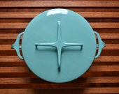 Turquoise Dansk Kobenstyle Dutch Oven with Original Jens H. Quistgaard 4 Ducks Logo