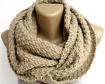 Knit Scarf Winter Scarf Women Knit Infinity Scarf Scarves Men Scarf Women Fashion Accessories Valentines Day Gifts senoaccessory