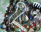 You Won't Regret This: 5 Lbs. of Junk Beads & Jewelry - glass stone plastic bead assortment