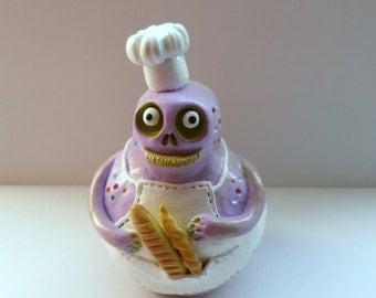 Clay Sculpture - Polymer Clay Monster - Light Purple Creature Figurine - Mr. Rooney Breadeater - Halloween Decor - Fantasy Sculpture - OOAK