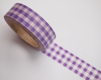 Purple Check Washi Tape (10M)
