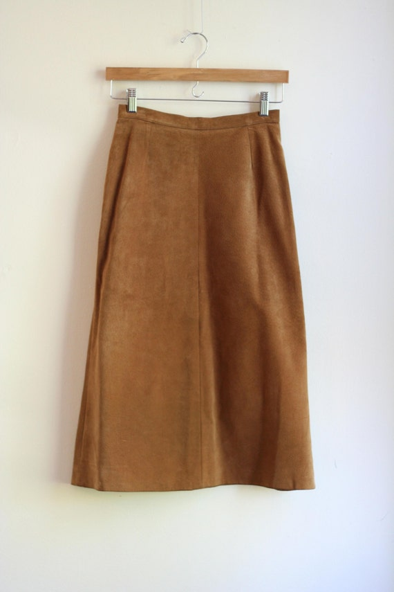 suede a line midi skirt xs